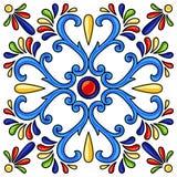 Meksykanina Talavera ceramicznej płytki wzór royalty ilustracja