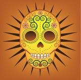 Meksykański dzień Nieżywa Cukrowa czaszka Obrazy Stock