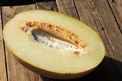 Melão amarelo maduro Foto de Stock