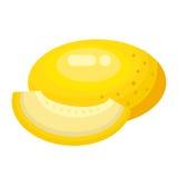 Melão dos desenhos animados em um fundo branco Ícone do melão na cor Imagem de Stock