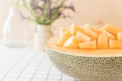 Melão fresco do cantaloupe Fotografia de Stock