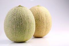 Melão japonês orgânico fresco no fundo branco Imagens de Stock
