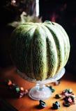 Melão verde maduro bonito em uma luz do dia imagem de stock royalty free