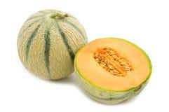Melón anaranjado del cantalupo Foto de archivo
