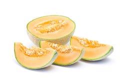 Melón anaranjado del cantalupo imagen de archivo libre de regalías