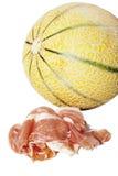Melón con el jamón Imagen de archivo libre de regalías