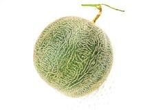 melón en el fondo blanco, un conjunto del cantalupo de frutas del melón del cantalupo aisladas en el fondo blanco fotos de archivo libres de regalías