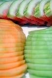 Melões cortados fotografia de stock royalty free