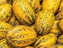 Melões em um marcetplace em Anatolia, Turquia foto de stock