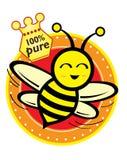 Mel & abelha Fotografia de Stock Royalty Free