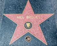 Mel Brooks Star on the Hollywood Walk of Fame Royalty Free Stock Photography