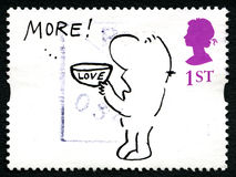 Mel Calman Humorous UK Postage Stamp. GREAT BRITAIN - CIRCA 1996: A used postage stamp from the UK, depicting a humorous illustration by cartoonist Mel Calman Stock Image