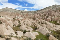 Mel da montanha e vales vermelhos em Cappadocia Foto de Stock