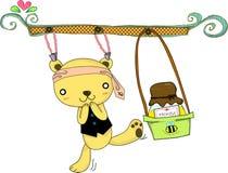Mel do amor do urso Imagem de Stock