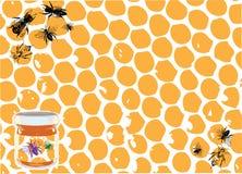 Mel e abelhas Foto de Stock Royalty Free