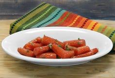 Mel e cenouras Roasted manteiga Imagem de Stock