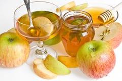Mel e maçã Imagens de Stock