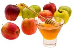 Mel e maçã Fotografia de Stock Royalty Free