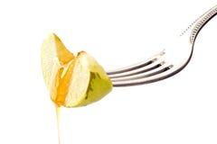 Mel e maçã Imagens de Stock Royalty Free