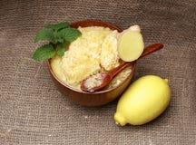 Mel, gengibre e limão Fotografia de Stock Royalty Free