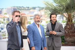 Mel Gibson, Diego Luna, Jean-Francois Richet Royalty Free Stock Photography