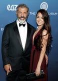 Mel Gibson en Rosalind Ross stock foto's