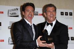Mel Gibson, junior del Robert Downey, Robert Downey Jr., Robert Downey, junior. Fotografia Stock Libera da Diritti