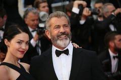 Mel Gibson och Rossalind Ross Fotografering för Bildbyråer