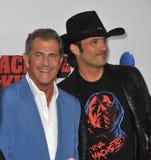 Mel Gibson & Robert Rodriguez Stock Photos