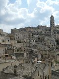 Panoramic Matera Basilicata in Southern Italy Apulia Italian Romantic Sassi Mel Gibson`s The Passion of Christ royalty free stock photography