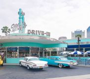 Mel`s Drive in cafe and restaurant at Universal Studio, Osaka, Japan stock images