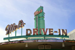Mel`s Drive-in Diner Royalty Free Stock Photography