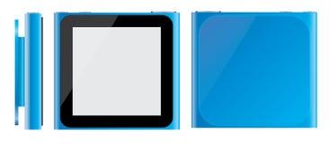 Mela blu iPod Nano 2010 illustrazione di stock