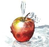 mela con il colore ad acqua Fotografia Stock Libera da Diritti