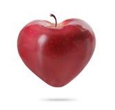 Mela del cuore fotografia stock