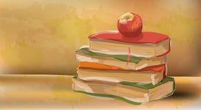 Mela del libro illustrazione di stock