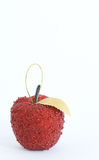 Mela di colore rosso dell'albero di Natale di Hadicraft fotografie stock libere da diritti