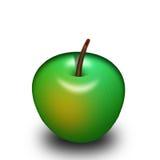 mela di verde 3d Fotografia Stock Libera da Diritti