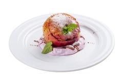 Mela dolce al forno Dessert fotografie stock libere da diritti