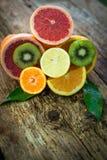 Mela ed uva di frutti Immagini Stock Libere da Diritti
