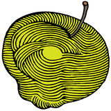 Mela gialla incisa Fotografia Stock