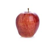 Mela matura rossa su fondo bianco Fotografia Stock Libera da Diritti
