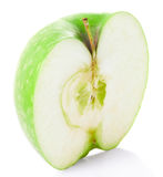 Mela a metà verde fotografia stock