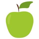 Mela piana di verde dell'icona Fotografia Stock Libera da Diritti
