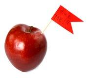 Mela rossa Fotografia Stock Libera da Diritti