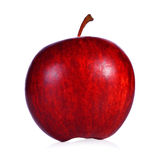 Mela rossa fresca su priorità bassa bianca Fotografia Stock