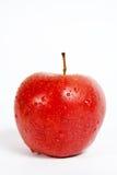 Mela rossa isolata Fotografia Stock