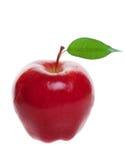 Mela rossa isolata Fotografia Stock Libera da Diritti