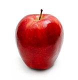 Mela rossa isolata immagine stock