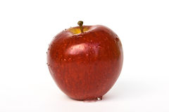 Mela rossa isolata su bianco Immagine Stock Libera da Diritti